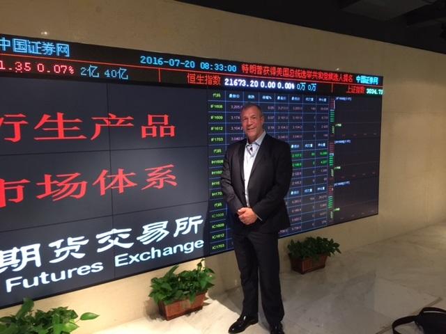 Mark Schlarbaum visiting the Shanghai Stock Exchange