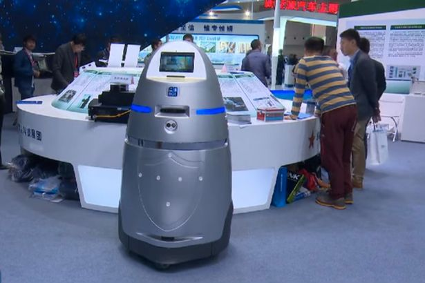 China's policing robot: Cattle prod meets supercomputer